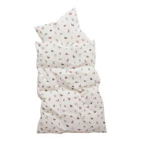 Leander – Dekbedovertrek Forrest voor Babybedjes – dusty rose – 70 x 100 cm