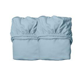 Leander – Hoeslaken ledikant – dusty blue – 70 x 140 cm