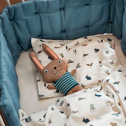 Leander Baby bedding Forrest dusty blue 70 x 100 cm