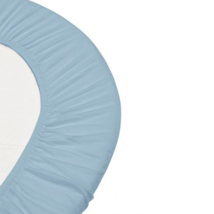 Leander hoeslaken voor junior ledikanten organic 2 pcs dusty blue 70 x 140 cm