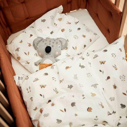 Leander Dekbedovertrek Junior bedding Forrest cappucino 100 x 140 cm