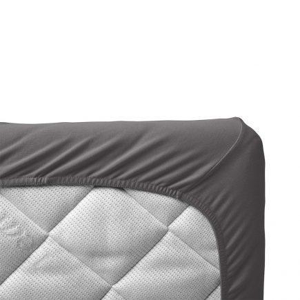 Leander hoeslaken voor junior ledikanten organic 2 pcs cool grey 70 x 140 cm
