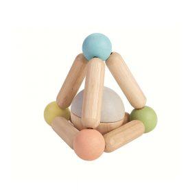 Plan Toys – Rammelaar Driehoekige in Pastelkleuren