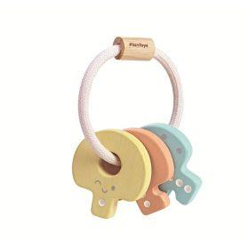 Plan Toys – Ratelsleutel voor Baby's in Pastelkleuren