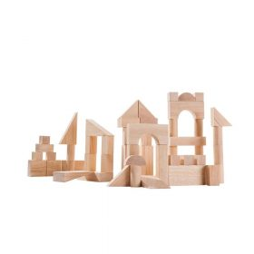 Plan Toys – 50-delige Houten Blokkenset