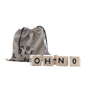 Ooh Noo – Alphabet Wooden Blocks – Black