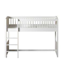 Oliver Furniture – Seaside Lille+ Low Loft Bed – Wit