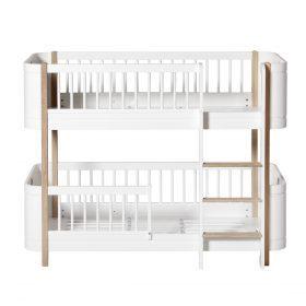 Oliver Furniture – Wood Mini+ Low Bunk Bed – Wit/Eikenhout