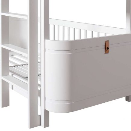 Oliver Furniture Wood Mini+ low bunk bed white 166 x 74 x 132 cm