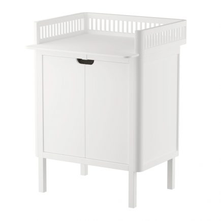 Sebra commode met changing unit 2 deuren classic white