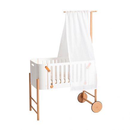 Oliver Furniture Wood 041487 co-sleeper met bedhemel wit