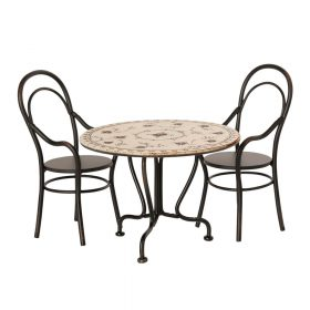 Maileg – Eettafelset met 2 stoelen