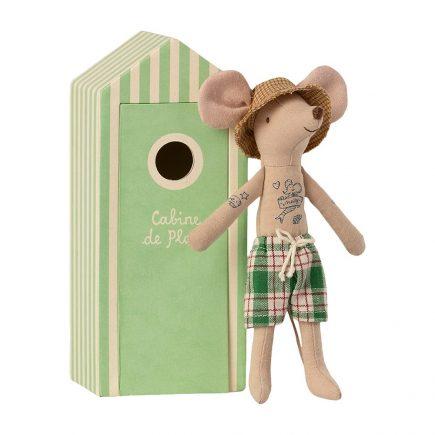 maileg-strand-muizen-vader-in-cabin-de-plage