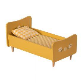 Maileg – Houten Bed – Mini – Geel