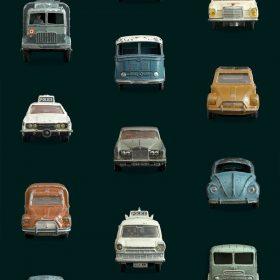 Studio Ditte – Behang Kinderkamer – Auto Donker