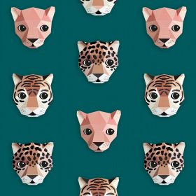 Studio Ditte – Behang Kinderkamer – Panthera Groen