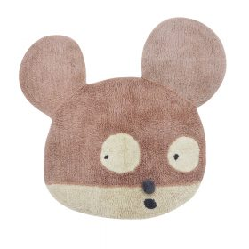Woolable – Edgar Plans Wollen Vloerkleed – Miss Mighty Mouse – 100 x 120 cm