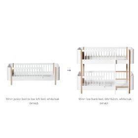 Oliver Furniture – Conversie Kit – Wood Mini+ Junior Bed naar Low Bunk Bed – Wit/Eiken