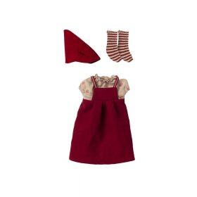 Maileg – Kerstkleding – Medium Muis – Meisje